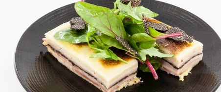 NEW YEAR croque-monsieur with black truffle