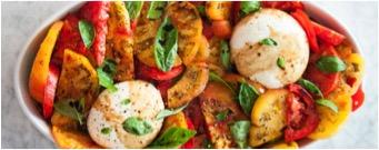 Heirloom tomato with burrata salad recipe
