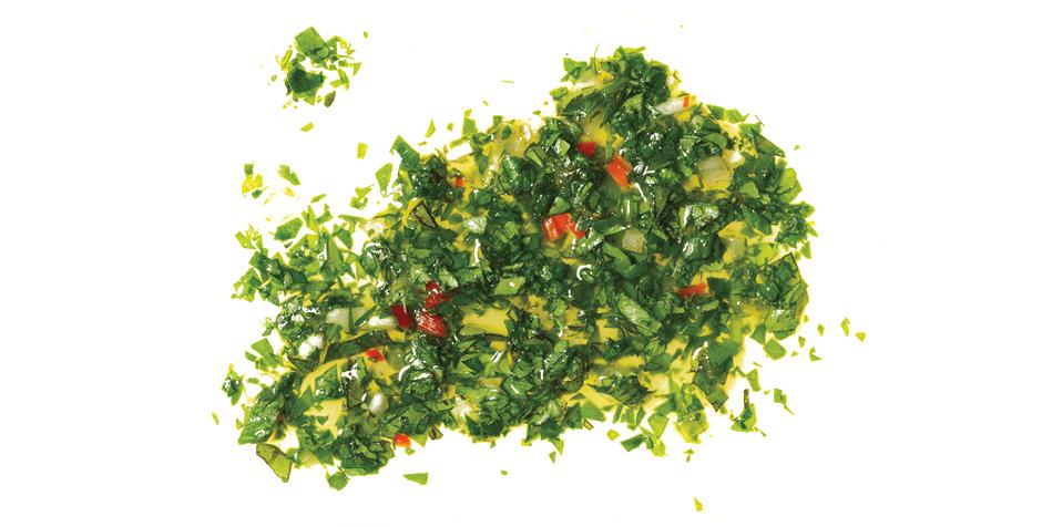 Chimichurri sauce to enjoy succulent wagyu beef steak
