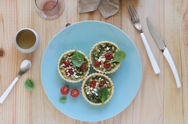 SPRING spinach and feta mini tart recipe