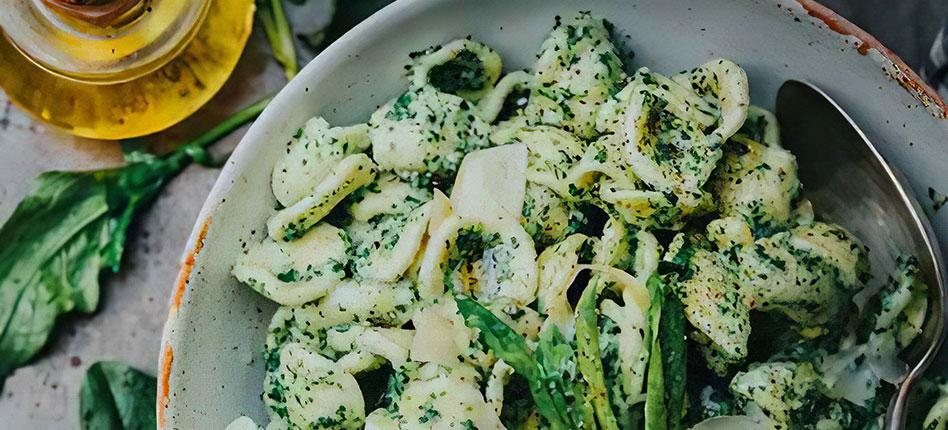 Orrechiette with Spinach recipe