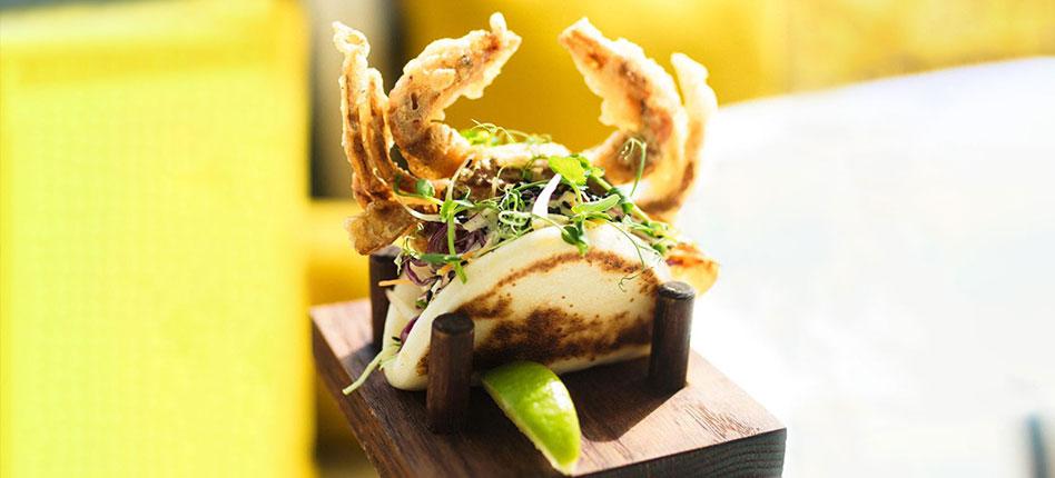 Soft shell crab bao recipe by Alex Stumpf head chef at BB Social Dining DIFC