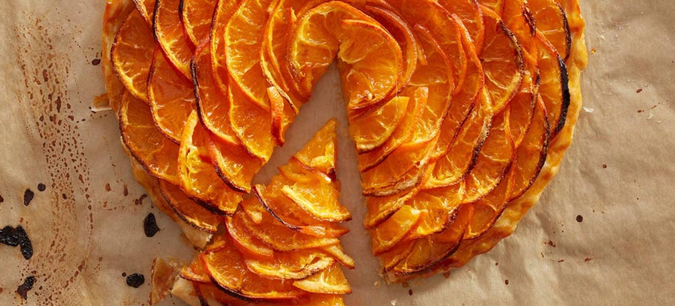 Clementine tart recipe by the Pastry Chef and Baker Alex Croquet