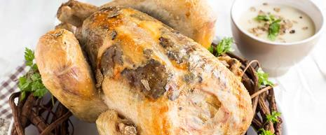 Bresse turkey infused with black truffle