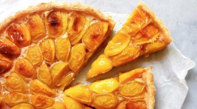 Mirabelles plum tart