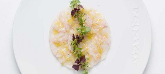 Easy seabass carpaccio recipe by Yannick Alleno