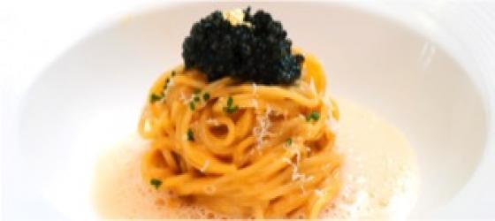 Caviar lemon pasta