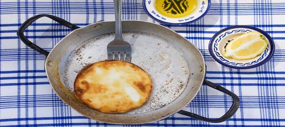 Cheese Saganaki recipe by Katerina Sakelliou