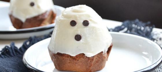 Halloween recipe : Ghost cupcakes