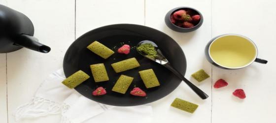 Financier mini cakes with matcha tea recipe