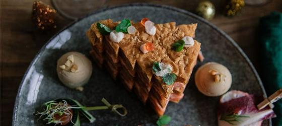 CHRISTMAS Salmon mille-feuille