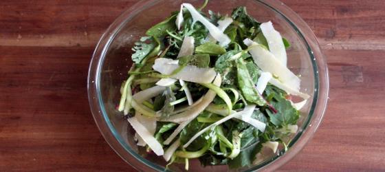Fresh asparagus with pecorino al tartufo