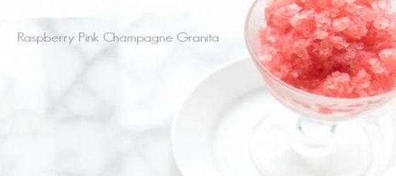 Raspberry Pink Champagne* granita