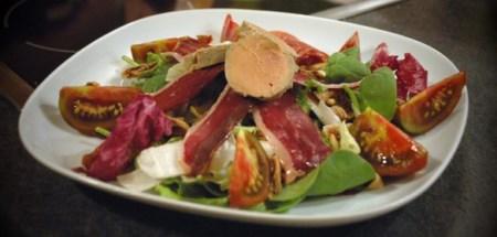 Perigourdine salad with foie gras