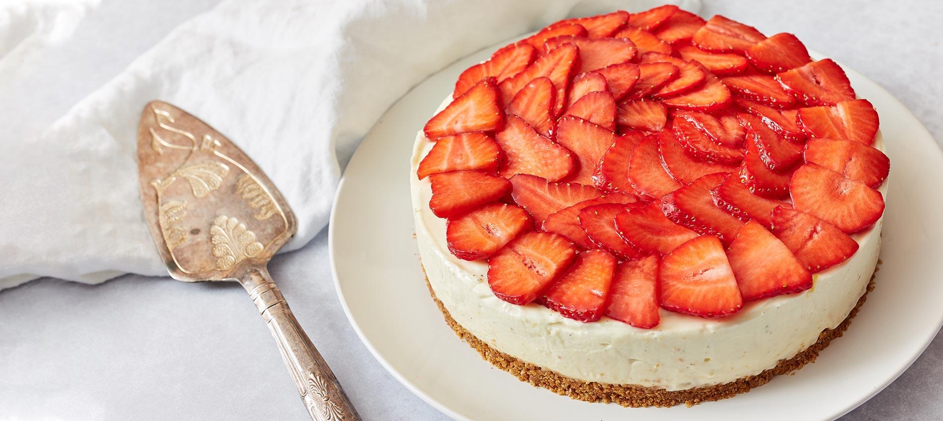 SUMMER Strawberry cheese cake recipe