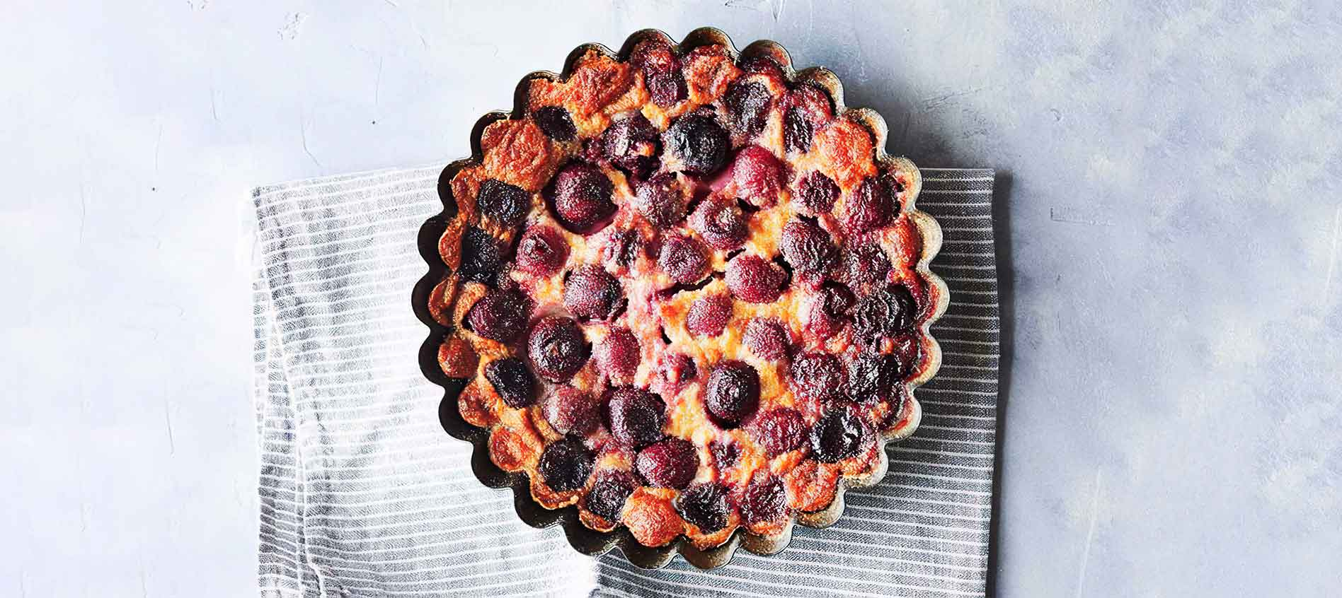 SUMMER Cherry clafoutis recipe by Jean-Francois Piege