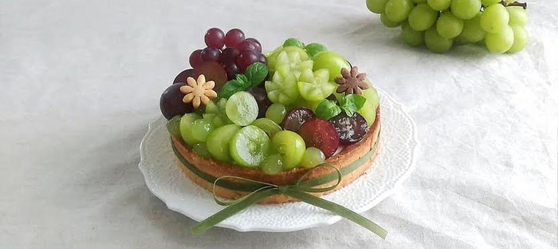 SUMMER Japanese Shine Muscat tart