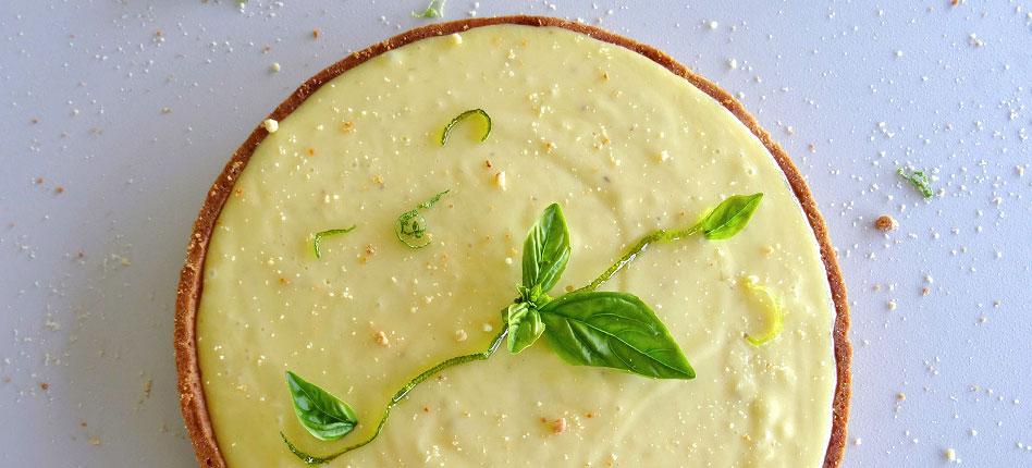 Lemon and basil tart recipe